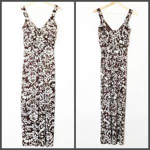 EnFocus Studio Maxi Dress Size 8 Brown and White